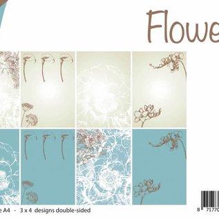 Papierset - Design Blumen