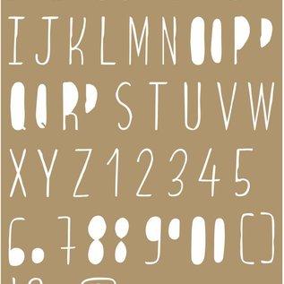 Maskschablone Polybesa - Buchstaben