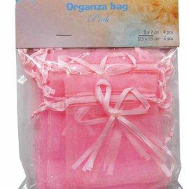 Organza bags - rose