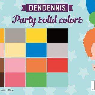 Papierset - Dendennis Party solid colors