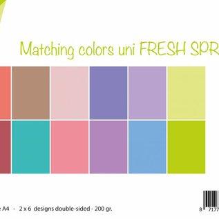 Papierset Matching Colors uni - Fresh Spring