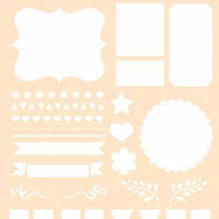 Polybesa Schablone- Journaling Flagge