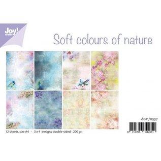 Paper set - Soft colors of nature