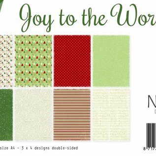 Papierset -  Joy to the World (Weihnachten)