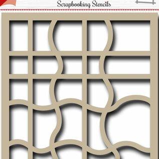 Scrapbookingschablone – Welle