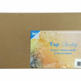 TOP Quality Cards & Envelopes Kraft 135x135 mm