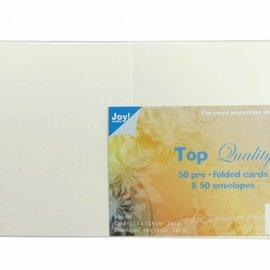 Karten & Umschläge Elfenbein 135x135 mm 8001/0032