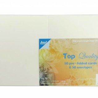 TOP Quality Karten & Umschläge Elfenbein 135x135 mm