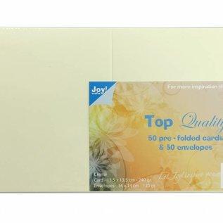 TOP Quality Karten & Umschläge Creme 135x135 mm