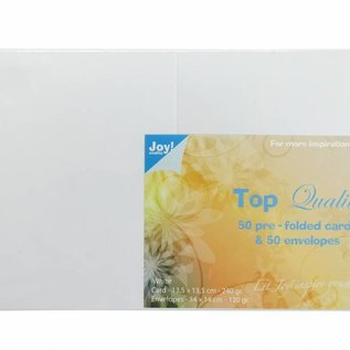 TOP Quality Karten & Umschläge Weiß 135x135 mm