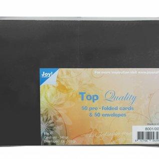 TOP Quality Karten & Umschläge Schwarz C6