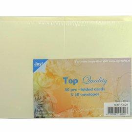 Karten & Umschläge Creme C6 8001/0021