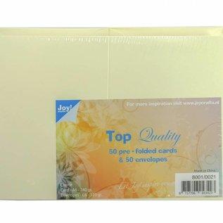 TOP Quality Karten & Umschläge Creme C6