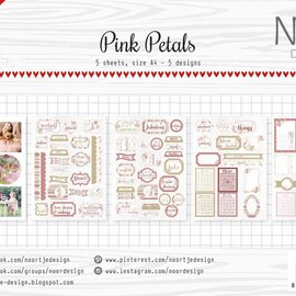 Cutting Sheet - Noor - Pink Petals 6011/0412