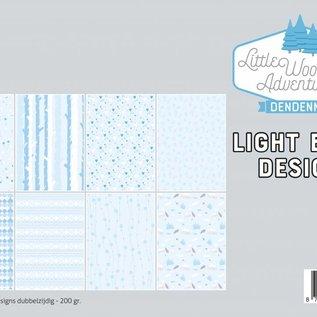 Papierset - LWA - Design Hellblau