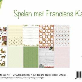 Papierset - Spielende Katzen 6011/0578