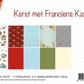 Paper set - Christmas with cats 6011/0573