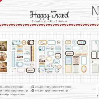 Design Stanzbogen Set - Happy Travel
