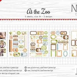 Labels / Cutting Sheets - At the Zoo 6011/0413