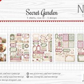 Etiketten-/Schneidebögen - Secret Garden 6011/0414