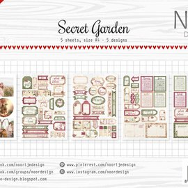 Label / Cutting sheets - Secret Garden 6011/0414