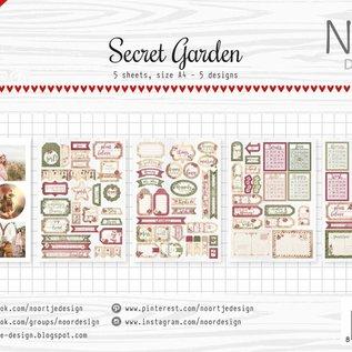 Etiketten-/Schneidebögen - Secret Garden