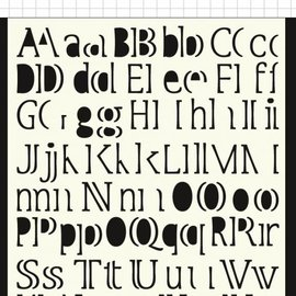 Polybesa Mask Template - Letters 6002/0877
