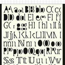Polybesa Maskschablone - Buchstaben 6002/0877