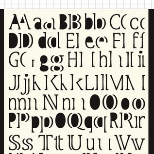 Polybesa Mask template - letters
