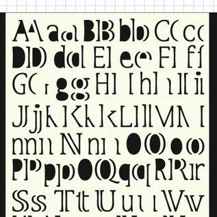 Polybesa Maskschablone - Buchstaben