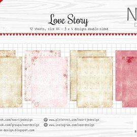 Papierset - Noor - Design Love Story 6011/0600