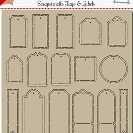 Polybesa scrapbook tags and labels 6002/0881