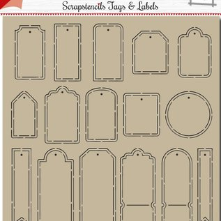 Polybesa scrapbook template - noor - tags and labels