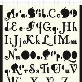 Polybesa Scrap-Maskschablone - 2 Sorten Buchstaben 6002/0876
