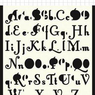 Polybesa Scrap-Maskschablone - 2 Sorten Buchstaben