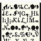 Polybesa Scrap Mask template - 2 types of letters