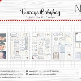 Label / Cutting sheets - Vintage Babyboy 6011/0416