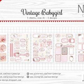 Etiketten-/Schneidebögen  - Vintage Babygirl 6011/0415