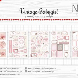 Label / Cutting Sheets - Vintage Babygirl 6011/0415