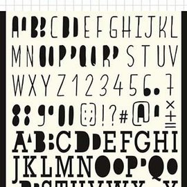 Polybesa Mask Template - Lettering 6002/0878