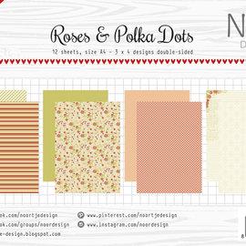 Papierset - Design Roses & Polkadots 6011/0601