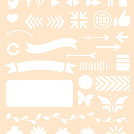 Polybesa Schablone - Journaling 6 6002/0873