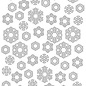 Embosstencil polybesa Snowflakes