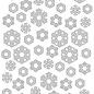 Prägeschablone Polybesa Schneeflocken 6002/0619