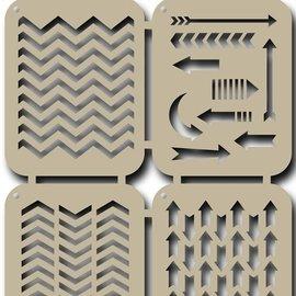Scrap stencil - arrows