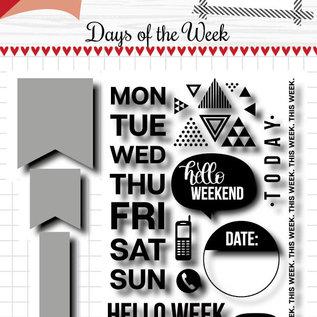 Scrap Cuttingdie & Stamp - Noor - Days of the week