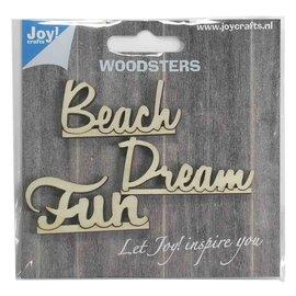 Woodsters - Holz - Worten English: Dream - Beach - Fun