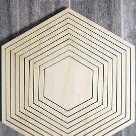 Woodsters holz - Hexagon für Schüttelkarten und Deko