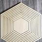 Woodsters holz - Hexagon für Schüttelkarten und Deko   6320/0012