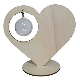 Heart standing with 5 cm ball